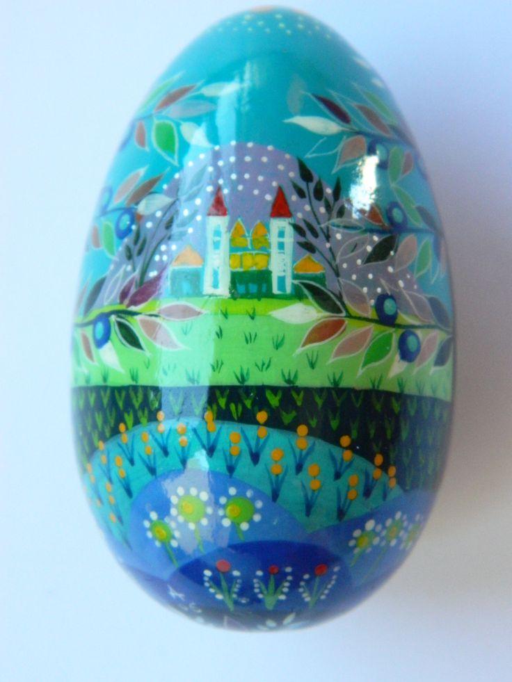 Vintage Hand Painted Wooden Egg, Decorative Egg,  Decorative Egg, Rustique Home Decor, Home and Living by RetroBackyardSales on Etsy