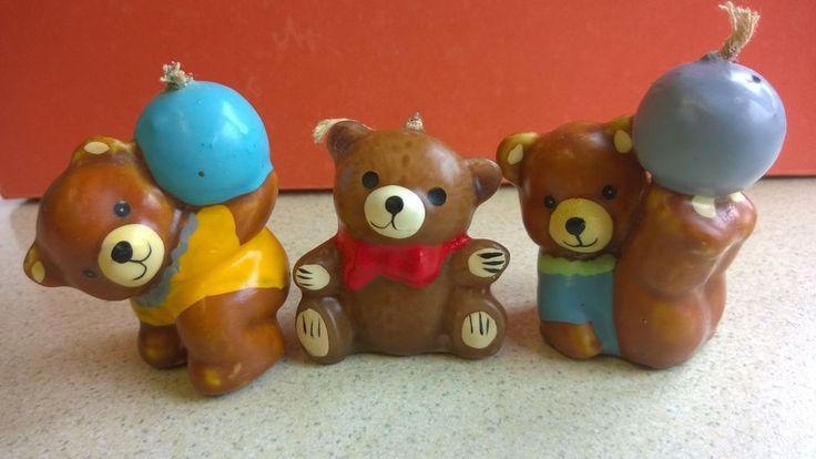 Small Teddy Bear Candles