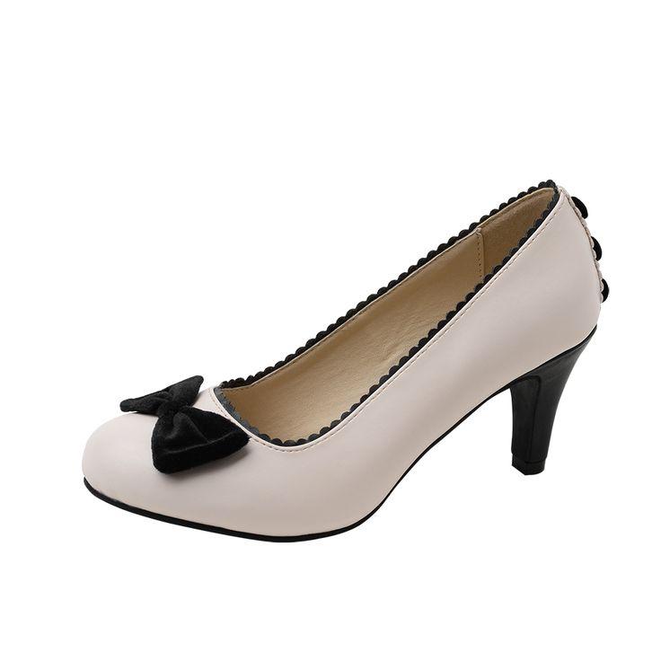 T.U.K. Shoes Women's Navy & Cream Wingtip T-Strap Bombshell Heels EU36 / UKW3 AsKQnGKlE
