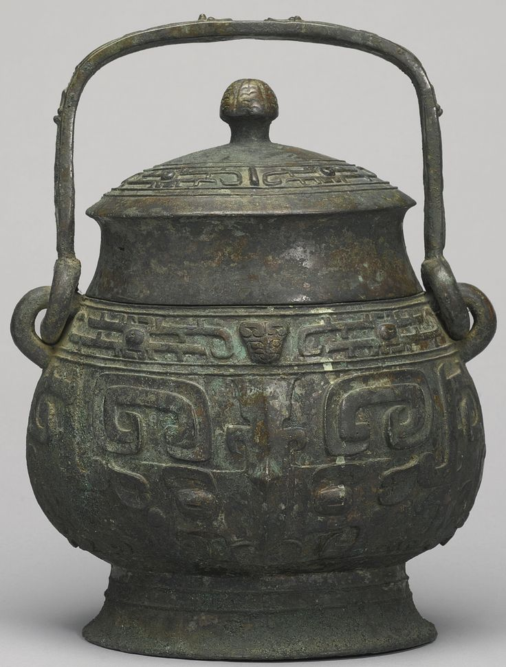 A Bronze Ritual Wine Vessel And Cover You Late Shang