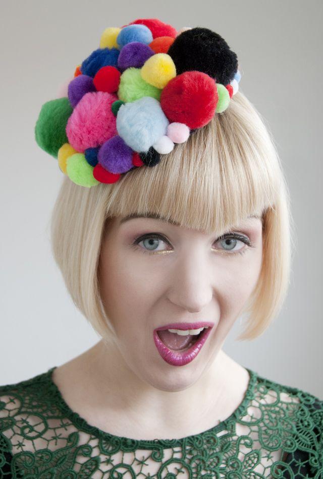 Pompom Circus Fascinator - Crazy Hair Day Idea!