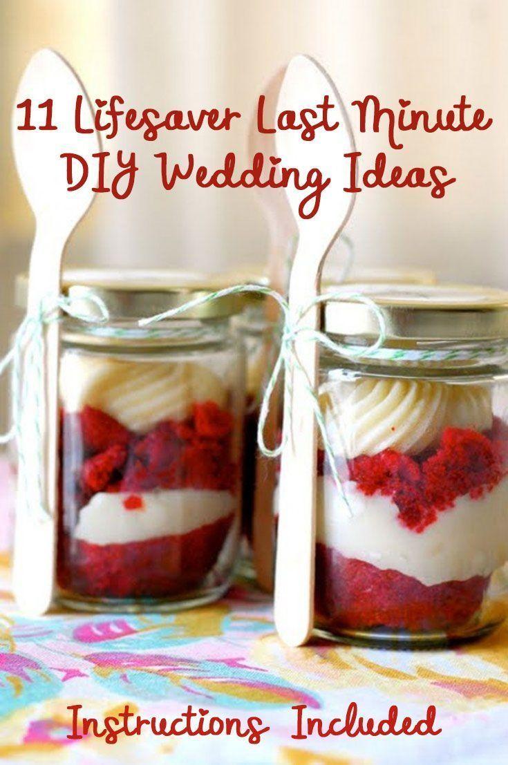 11 Lifesaver Last Minute Wedding DIY Ideas