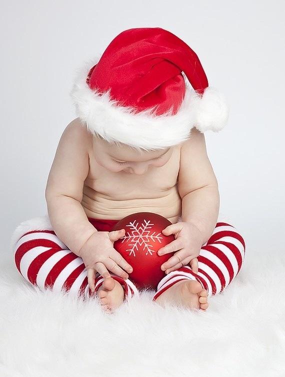Magnifique photo de bébé pour noël !