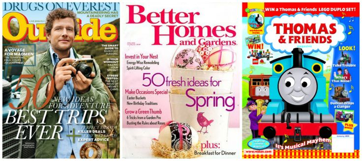 Magazine Deals 9/18 Outside, Better Homes & Gardens and Thomas & Friends Magazine up to 89% Off – TODAY ONLY!