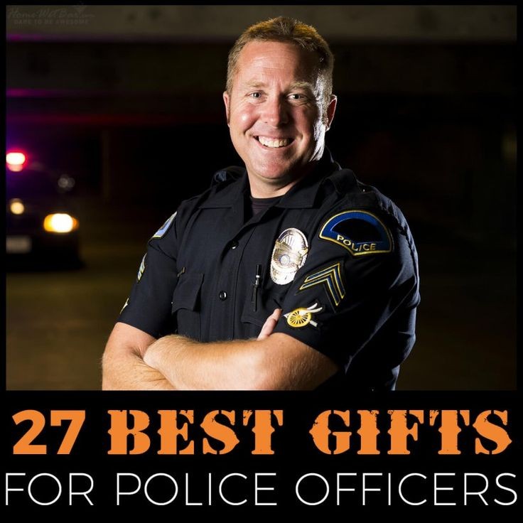 Personalized gifts by police officer