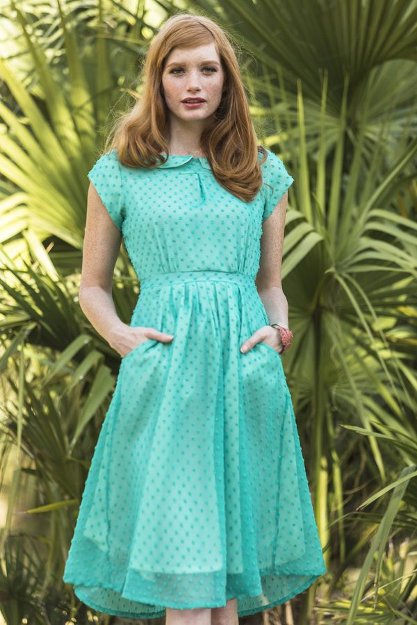 Mint Julep Dress | Gardenias and Gingham by Shabby Apple  Can we talk about how great the pockets are?