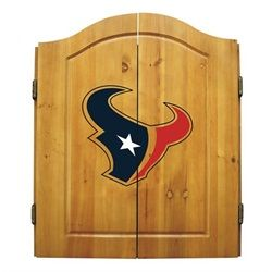 My boy would love this. Houston Texans Dart Board Cabinet & Bristle Dartboard Set