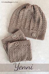 Ravelry: Yenni Boot Cuffs pattern by Little Monkeys Crochet.  DK