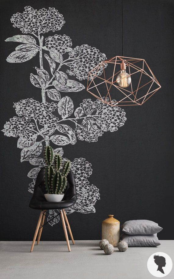 Are you dreaming of that chalkboard wall but landlord won't let you paint? Check out this blackboard removable wallpaper, it's just what you've been looking for!