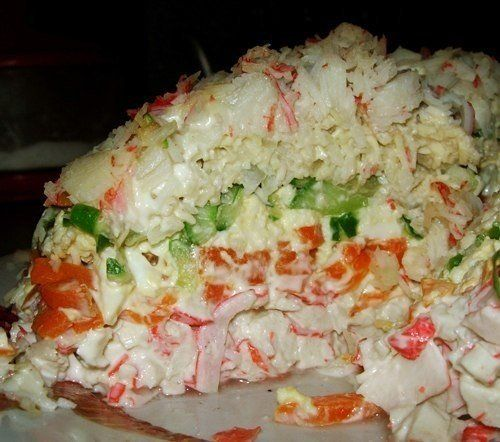 Салатик морской, слои перечислены сверху вниз