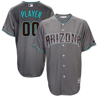 arizona diamondbacks majestic 2017 cool base custom jersey gray turquoise