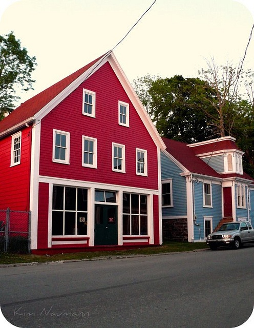 Some lovely old buildings in downtown Lunenburg Nova Scotia Canada.  Photo by Kim Naumann