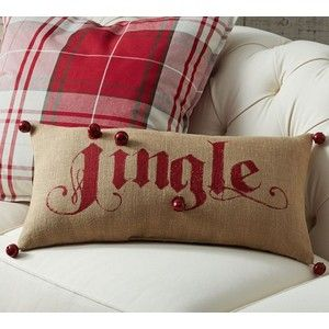 pottery barn jingle pillow - Google Search @kroelfs we are making these for xmas this year! :)