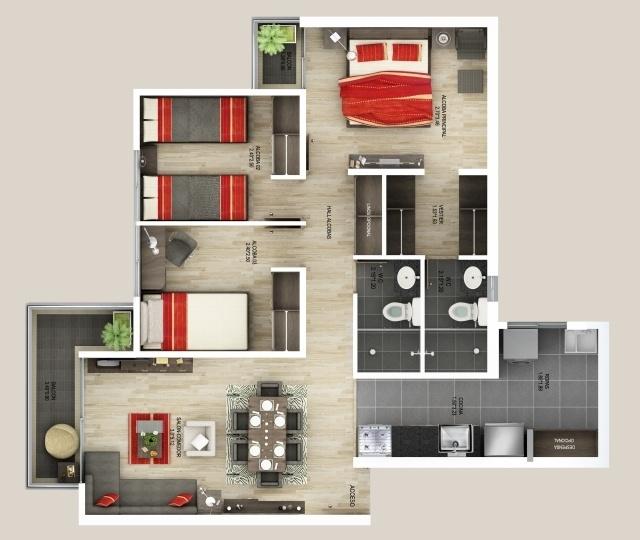 TierraColina - 74.22 m2