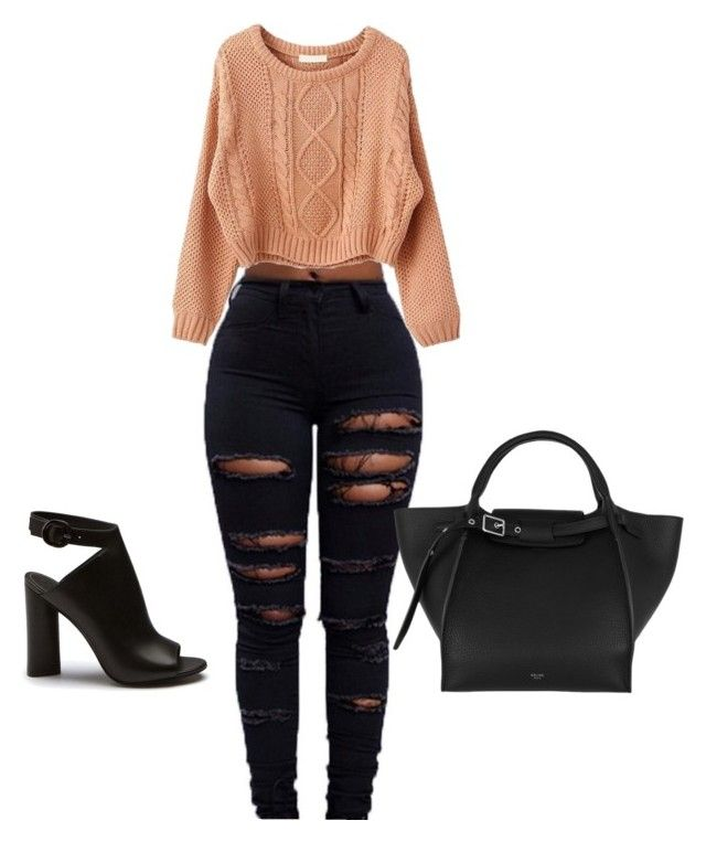 """Untitled #628"" by jalilastroud on Polyvore featuring CÉLINE"