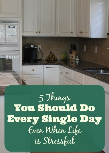 1. Write a short To Do List 2. Make your bed 3. Get dressed 4. Do one complete load of laundry 5. Keep kitchen clean