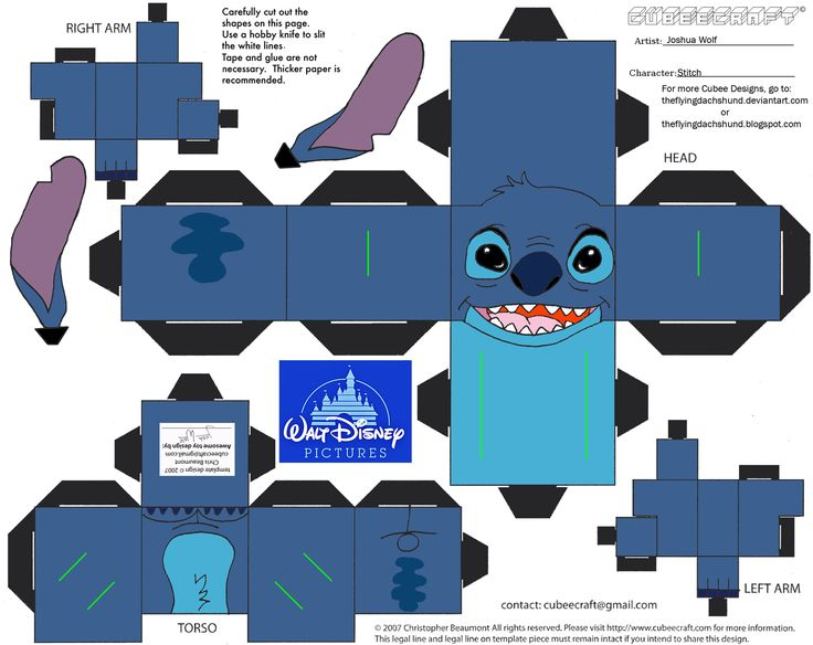 200 best images about cube people to make on pinterest for Lilo and stitch arts and crafts