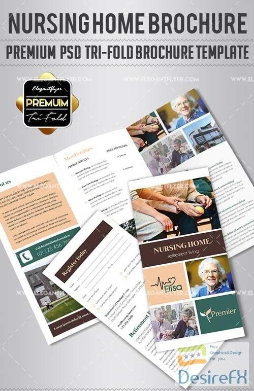 nursing home v1 2018 tri fold brochure psd template