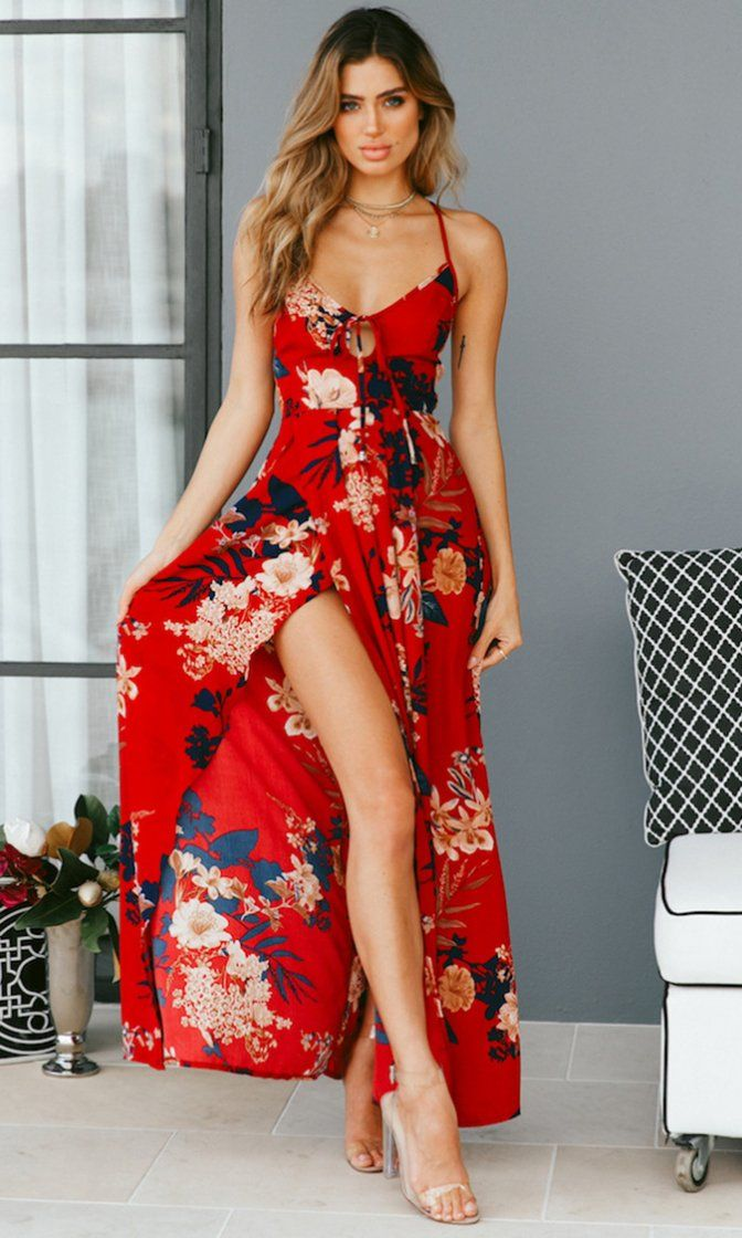 Tiger Lily Floral Pattern Sleeveless Spaghetti Strap Backless Lace Up Casual Maxi Dress Sold Out Backless Dress Summer Bohemian Maxi Dress Maxi Dress
