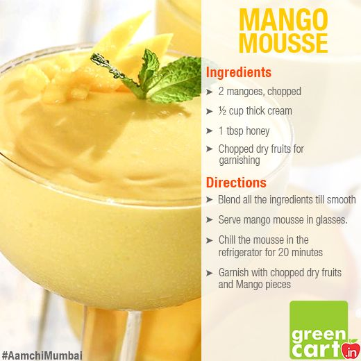 #Mango #Mousse #Recipe Multiple vitamins and rich source of minerals & amino acids. Good for Kids.
