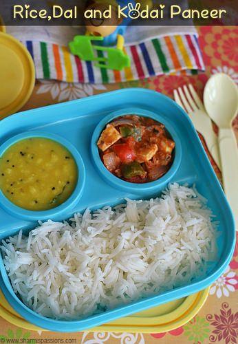 Rice Dal KadaiPaneer
