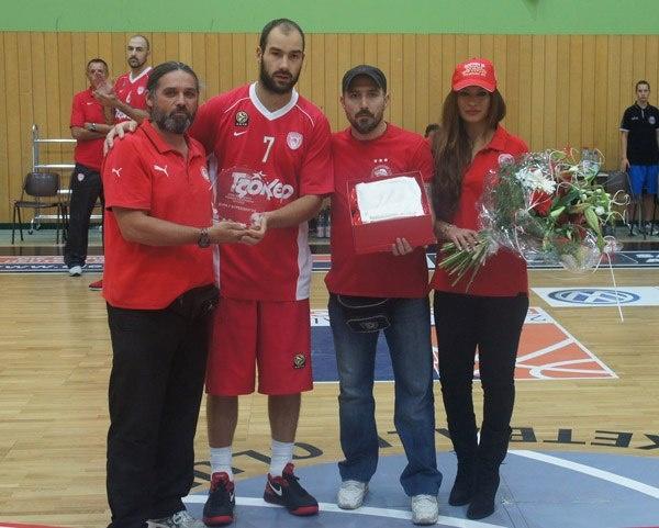 Nurnberg based Greek fans honors Olympiakos BC @BasketPlusGr
