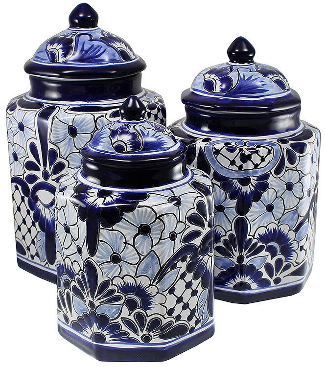 Talavera Kitchen Canisters Collection - Talavera Kitchen Canister - TGJ265 These are nice too.