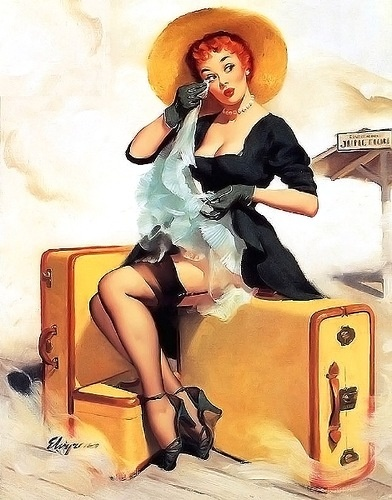 "Gil Elvgren: ""Welcome Traveler"", 1955: Wall Art, Gilelvgren, Vintage Pinup, Art Prints, Pin Up Art, Pinup Girls, Pinup Art, Gil Elvgren, Pin Up Girls"