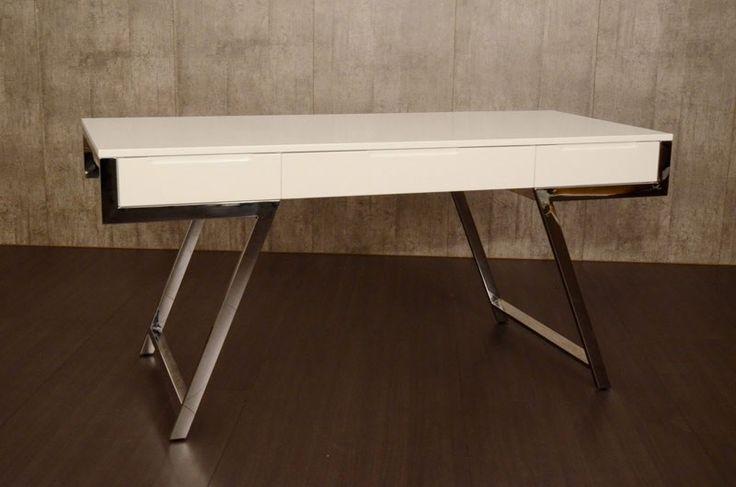 VIG Furniture - Modrest Dessart Modern White Gloss Desk - VGBBMQ1305-WHT