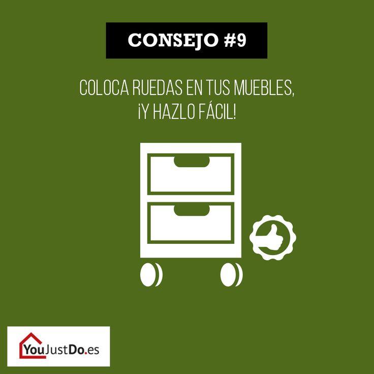 Mover los muebles puede resultar pesado… #bricolaje #bestoftheday #casa #decoración #diy #doityourself #hazlotúmismo #inspiración  #muebles #paléts #palés #youjustdo