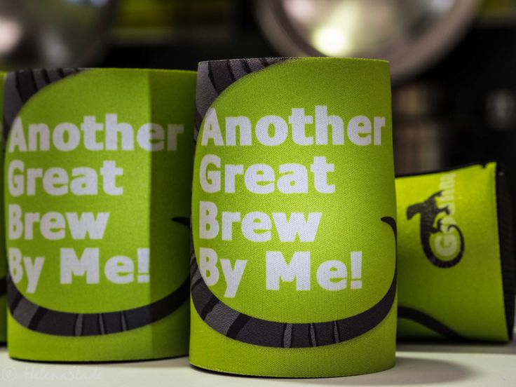 """Goanna Brewing - merchandise available in store! """"Another Great Brew By Me"""" Stubby Holders (www.goannabrewing.com.au)"""