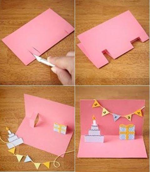 Открытки, объемная открытка для тети на день рождения