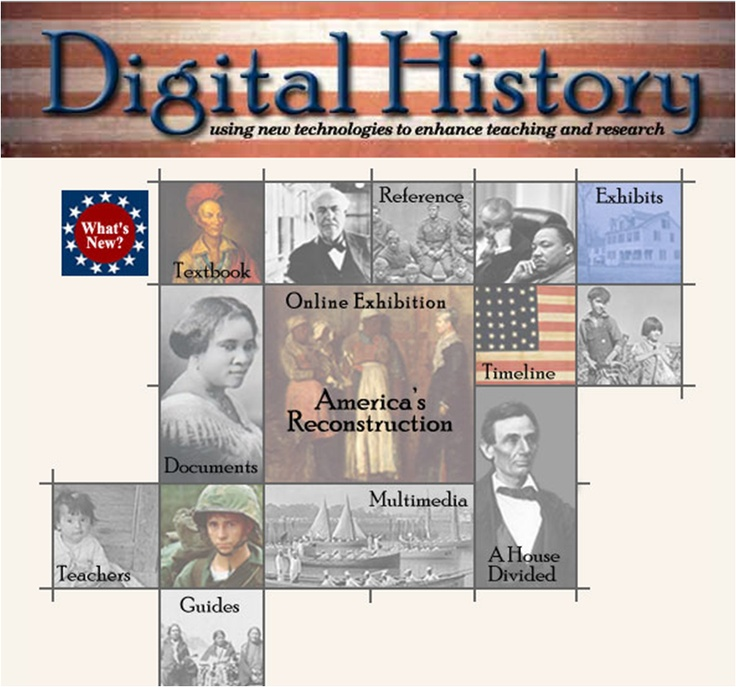 Digital History - Interactive timelines, lesson plans, history of immigration, online exhibitions.