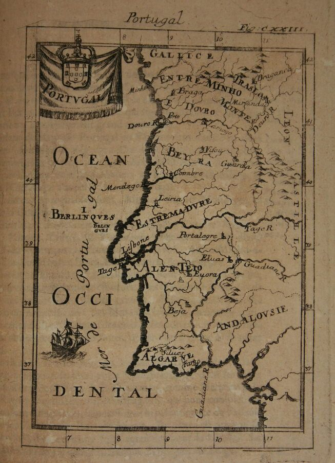 Map of Portugal, 1685 | MAPS | Map, Old maps, Vintage maps