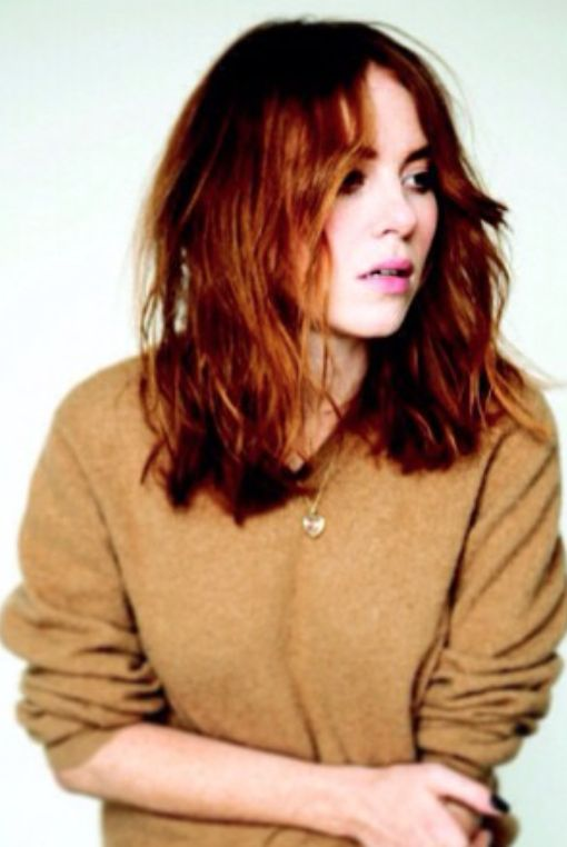Angela Scanlon wearing her Loquet London.