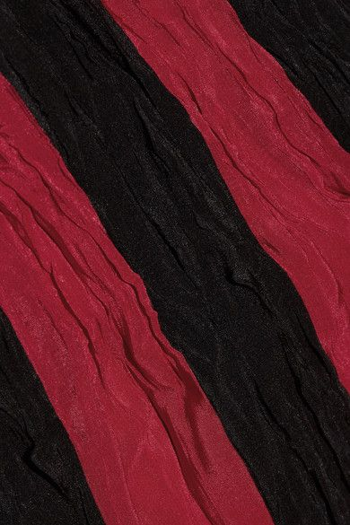 Juan Carlos Obando - Striped Crinkled Silk Crepe De Chine Maxi Skirt - Red - US10