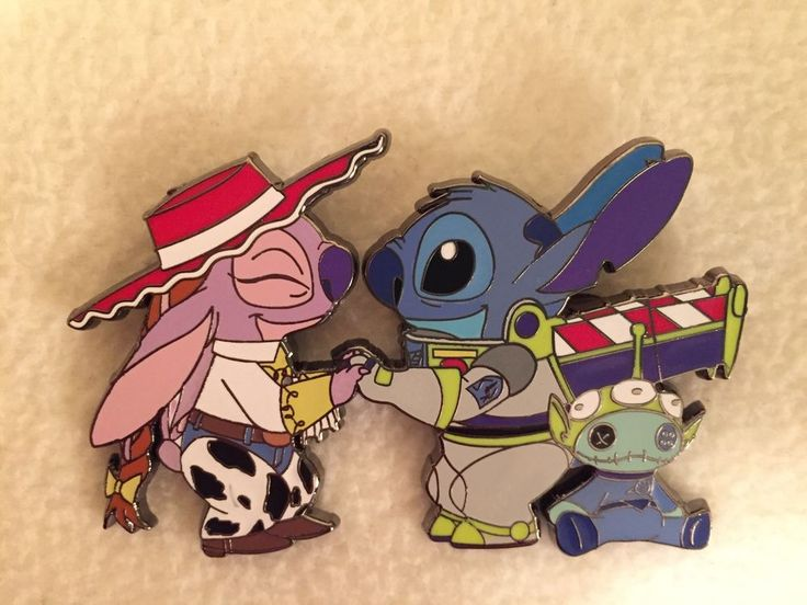 RARE Disney Toy Story Lilo And Stitch Angel Jessie Buzz Lightyear Fantasy Pin LE