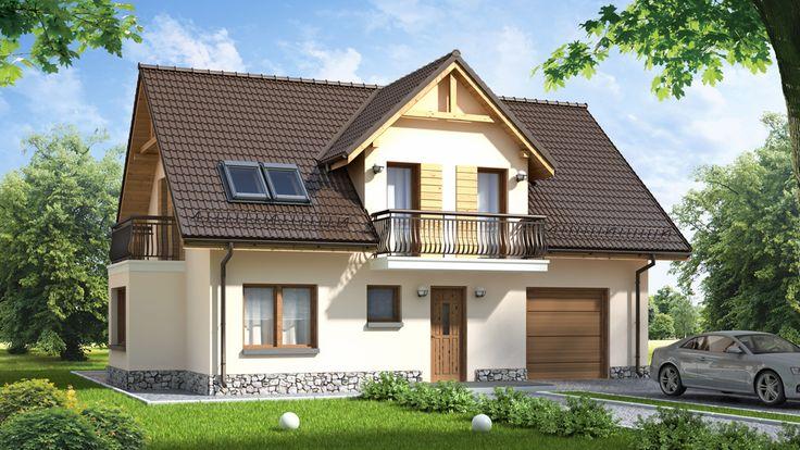 Specjalnie dla Państwa zaprojektowaliśmy ten ekonomiczny dom z użytkowym poddaszem.