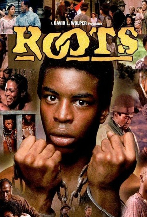 """ROOTS"" (1977 mini-series) Starred LeVar Burton, Olivia Cole, Ben Vereen- Plot follows author Alex Haley's family line from ancestor Kunta Kinte's enslavement to his descendants' liberation."
