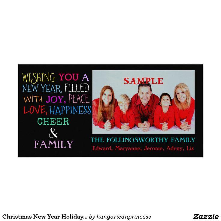Christmas New Year Holiday Greetings Card
