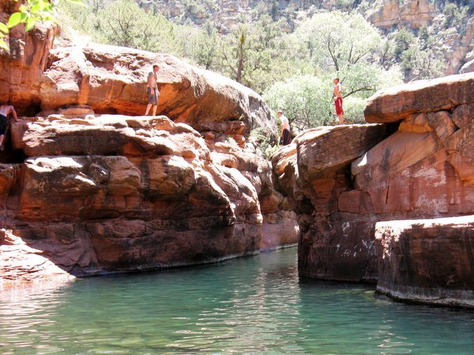 "4 kid-friendly hikes in Arizona including -The swimming hole known as ""The Crack"""