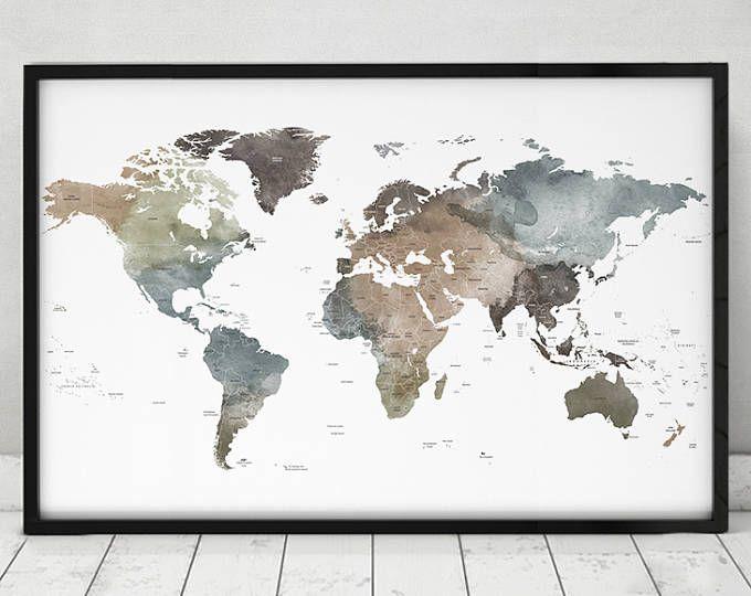 Best 25+ World map art ideas on Pinterest | Map art, World map ...