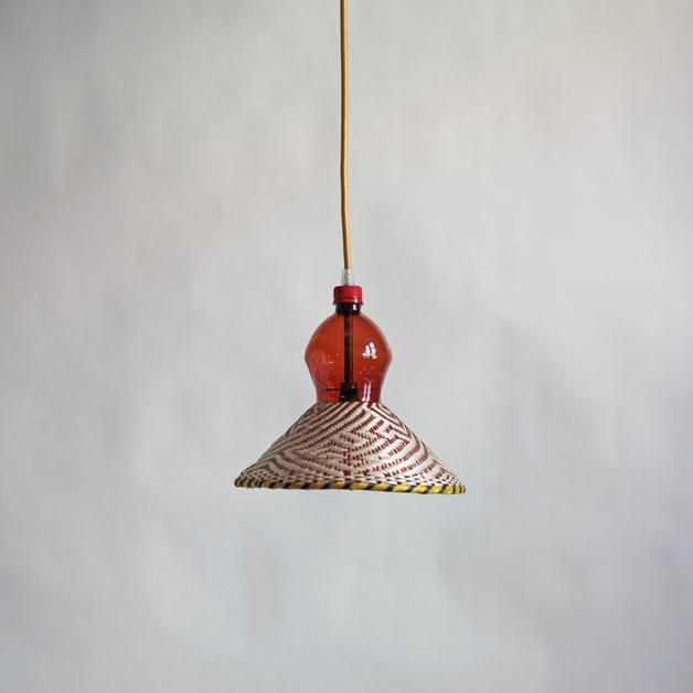 Lampe aus recycelter Plastikflasche / upcycling home decor: hanging lamp made of PET bottle made by PET Lamp Studio S.L. via DaWanda.com