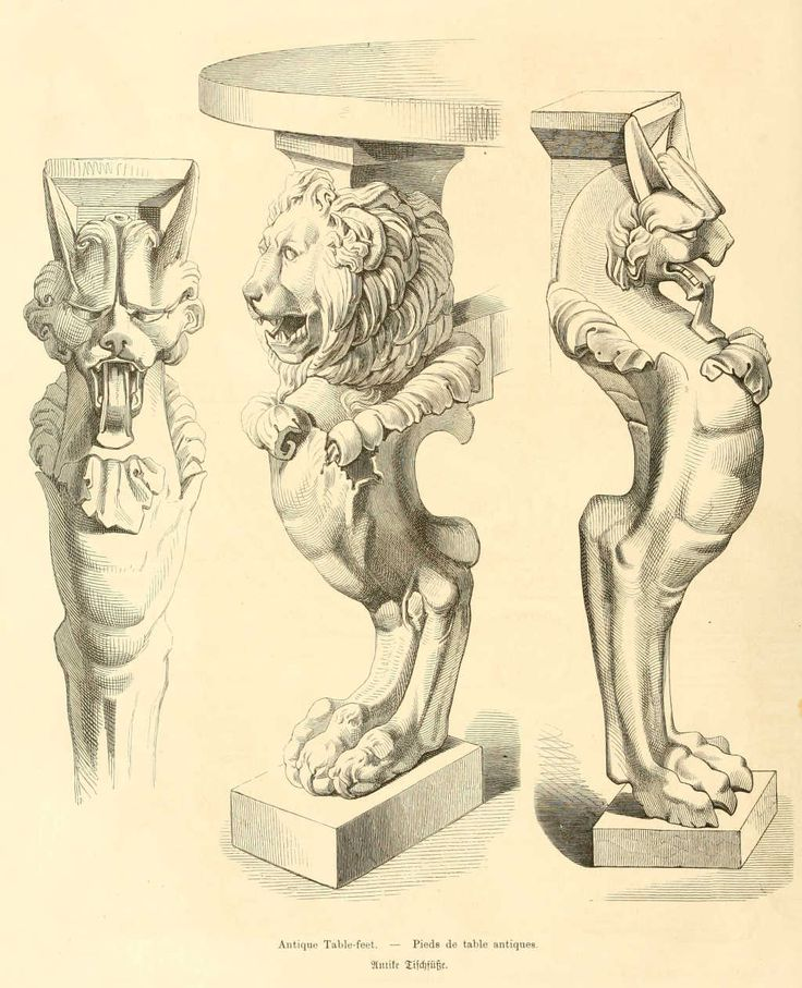 img/dessins meubles mobilier/pieds de table antiques.jpg