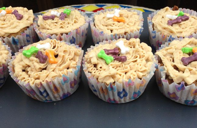 Carrot and Banana Dog Cupcake Recipe