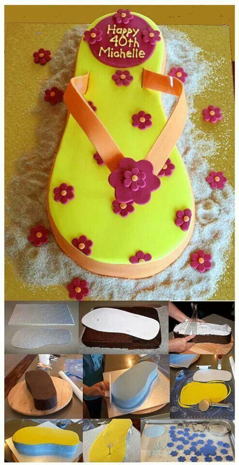 Flip Flop Cake Tutorial