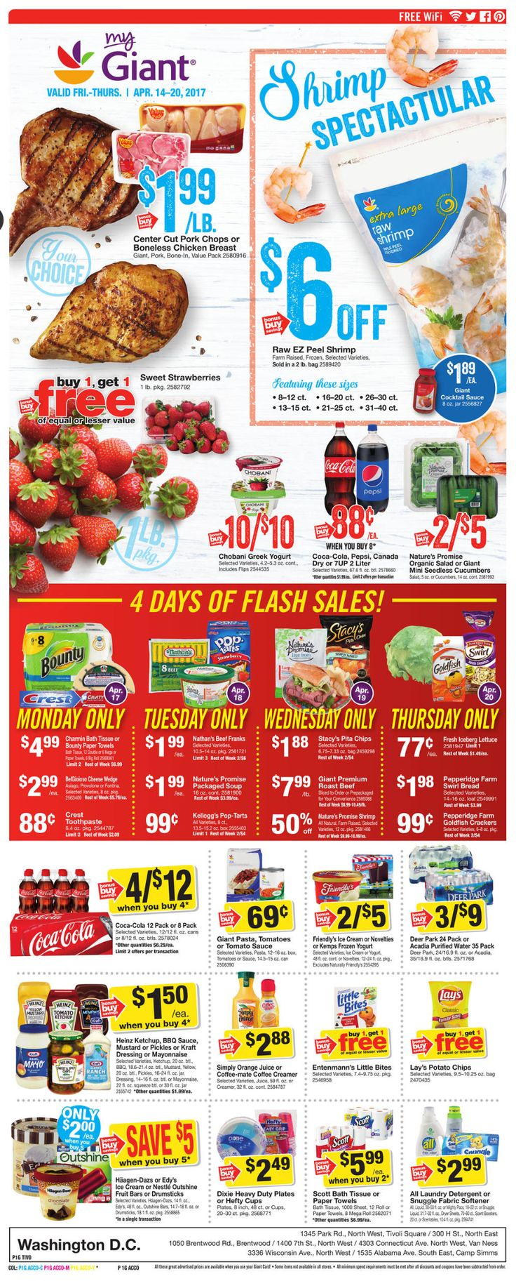 Giant Food Weekly Ad April 14 - 20, 2017 - http://www.olcatalog.com/grocery/giant-food-weekly-ad.html