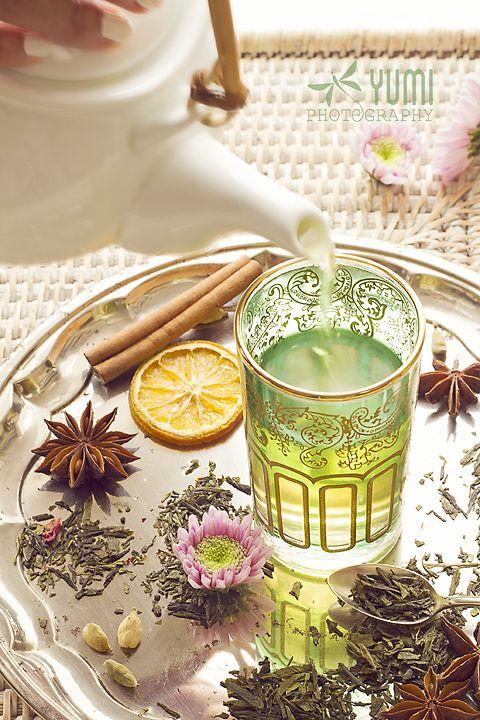 Moroccan mint green tea teapot - Yumi Photography ♥ www.facebook.com/yumiphotoart ♥