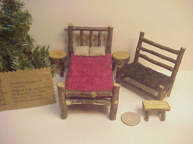 miniature dollhouse furniture woodworking. cottage size rustic miniature dollhouse furniture set puki doll fairyland pukifee perfect for fairy house woodworking