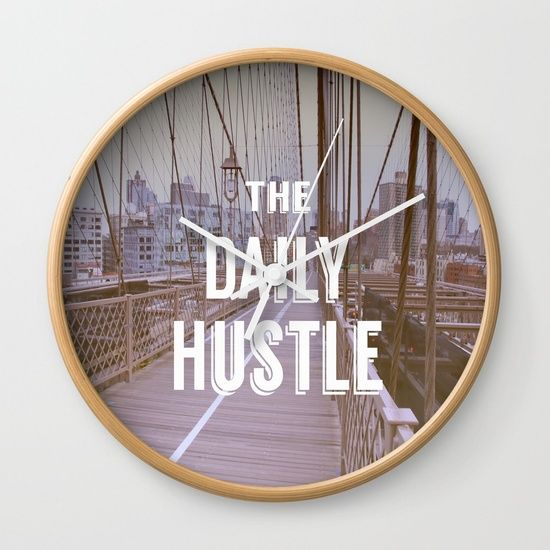 "Get you day started right with this sweet clock at Society6. Available in natural wood, black or white frames, our 10"" diameter unique Wall Clocks feature a high-impact plexiglass crystal face and a backside hook for easy hanging. Choose black or white hands to match your wall clock frame and art design choice. Clock sits 1.75"" deep and requires 1 AA battery (not included)."